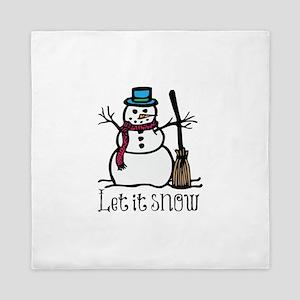 Snow Man Queen Duvet