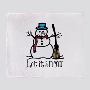 Snow Man Throw Blanket