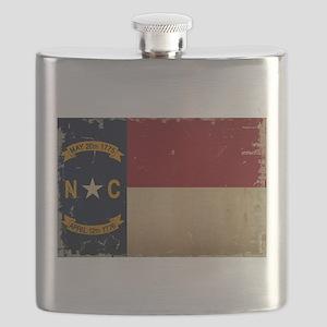North Carolina State Flag VINTAGE Flask
