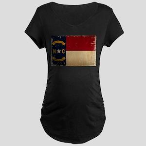 North Carolina State Flag VINTAGE Maternity T-Shir