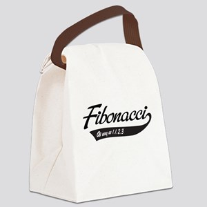 Fibonacci as easy as 1,1,2,3 Canvas Lunch Bag