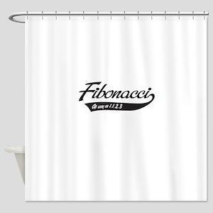 Fibonacci as easy as 1,1,2,3 Shower Curtain