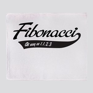 Fibonacci as easy as 1,1,2,3 Throw Blanket