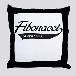 Fibonacci as easy as 1,1,2,3 Throw Pillow