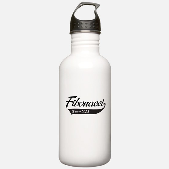 Fibonacci as easy as 1,1,2,3 Water Bottle
