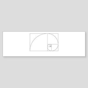 Fibonacci spiral Bumper Sticker