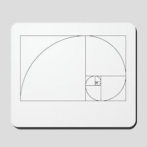 Fibonacci spiral Mousepad