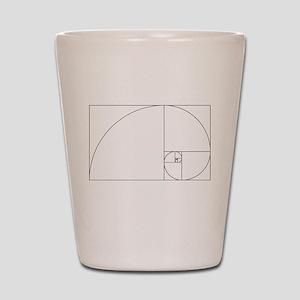 Fibonacci spiral Shot Glass