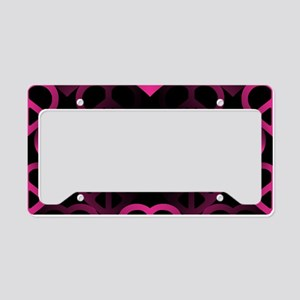 Pink PeaceHeart License Plate Holder
