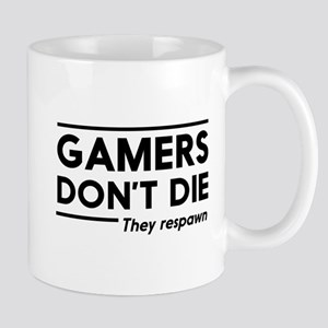 Gamers don't die, they respawn Mugs