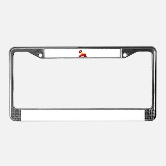 Smiling Crab Humorous License Plate Frame