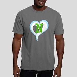 Letter N Mens Comfort Colors Shirt