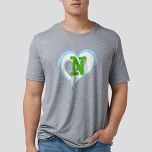 Letter N Mens Tri-blend T-Shirt