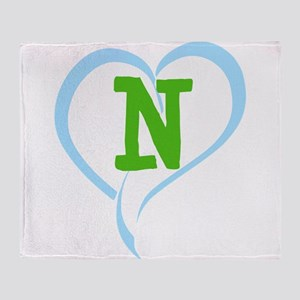 Letter N Throw Blanket