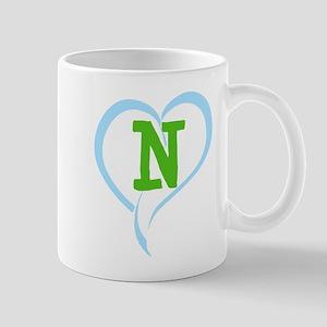Letter N 11 oz Ceramic Mug