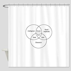 Nerd Venn Diagram Shower Curtain