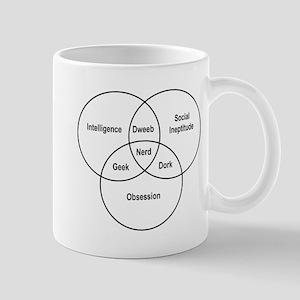Nerd venn diagram Mugs