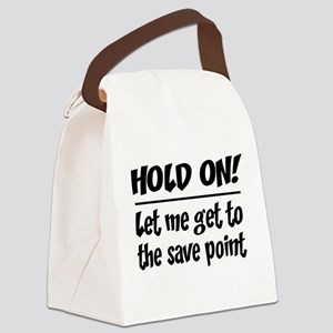 Hold on! save point Canvas Lunch Bag