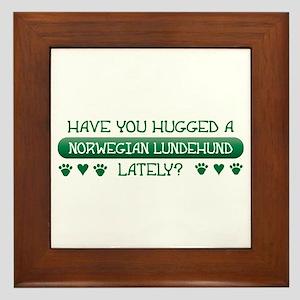 Hugged Lundehund Framed Tile