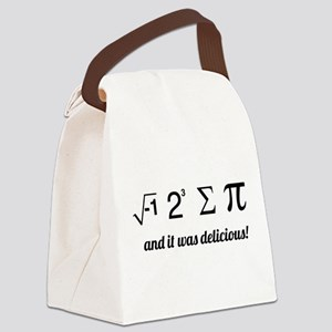I ate some pie math Canvas Lunch Bag