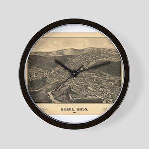 Map of Athol, MA 1887. Wall Clock