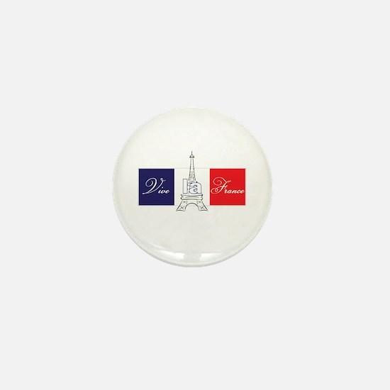 Vive la France! Mini Button
