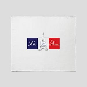 Vive la France! Throw Blanket