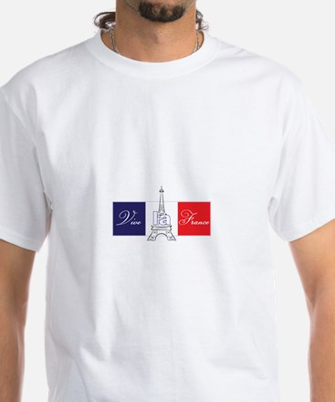 Vive la France! White T-Shirt