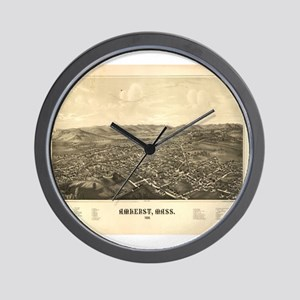 Old map of Amherst MA -1886. Wall Clock