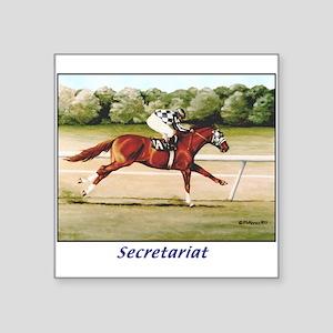 """Secretariat Square Sticker 3"""" x 3"""""""