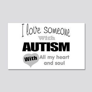 Love and autism Wall Decal