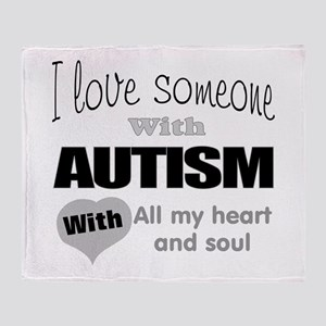 Love and autism Throw Blanket