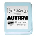 Love and autism baby blanket
