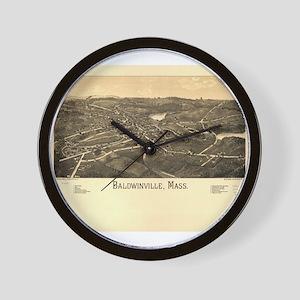 Baldwinville, MA -1886. Antiq Wall Clock