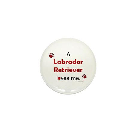 Labrador Retriever Loves Me Mini Button (10 pack)