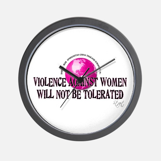 Stop Violence Against Women Wall Clock
