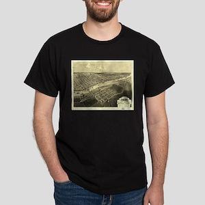 Bay City, MI -1867. Antique m Dark T-Shirt