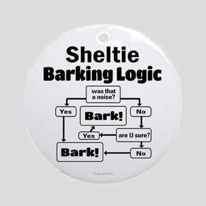 Sheltie Logic Ornament (Round)