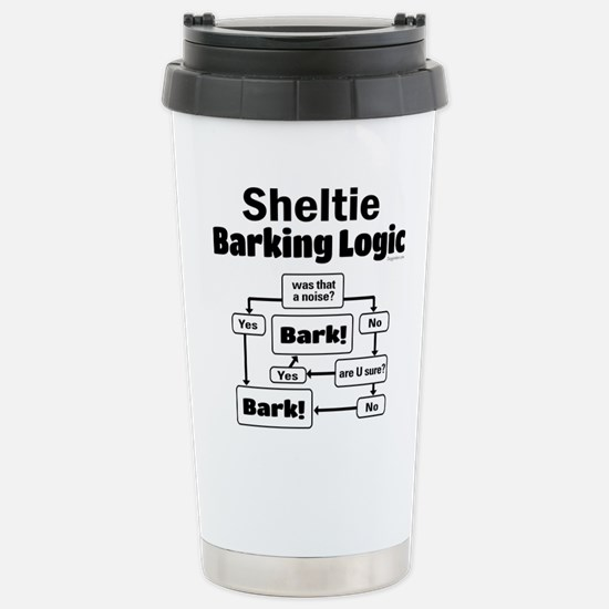Sheltie Logic Stainless Steel Travel Mug