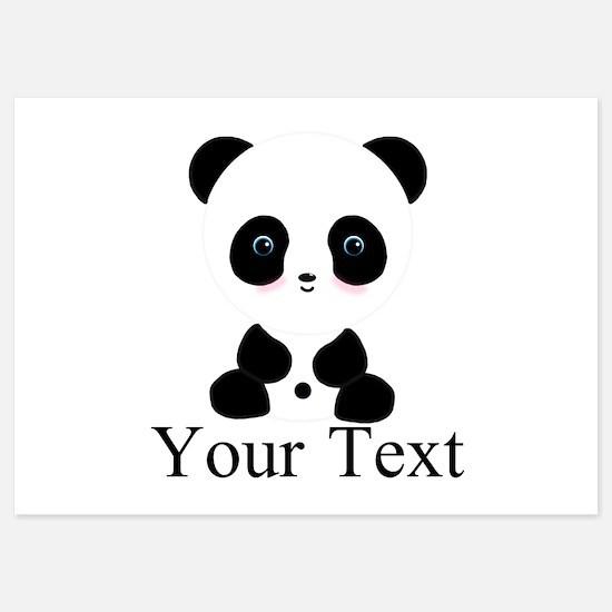 Personalizable Panda Bear Invitations