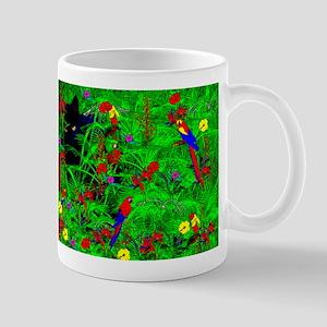 Black Cat and Birds Mug
