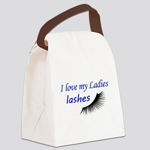 Love my ladies lashes Canvas Lunch Bag