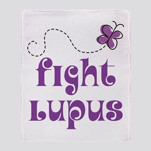 Lupus Purple Butterfly Throw Blanket