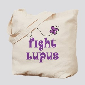 Lupus Purple Butterfly Tote Bag