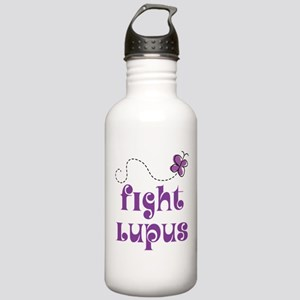 Lupus Purple Butterfly Stainless Water Bottle 1.0L