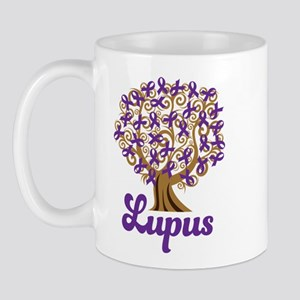 Lupus Purple Ribbon Tree Mug