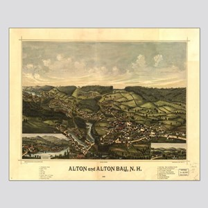 Alton Bay, NH 1888. Antique m Small Poster