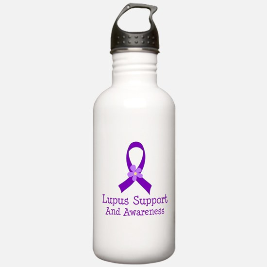 Lupus Purple Ribbon Water Bottle