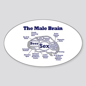 The Thinking Man's Oval Sticker