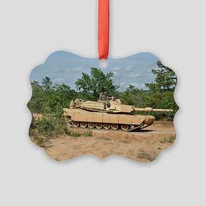 Abrams Main Battle Tank Picture Ornament